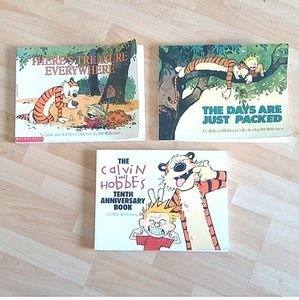 Calvin and Hobbes Lot of 3 Large Comic Books Kids